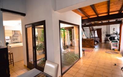 Binnentuin, ruime open villa
